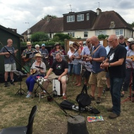 Hanwell Ukelele Group playing at the summer social 2017